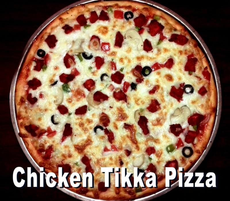 Chicken Tikka with Double Cheese Pizza 20""