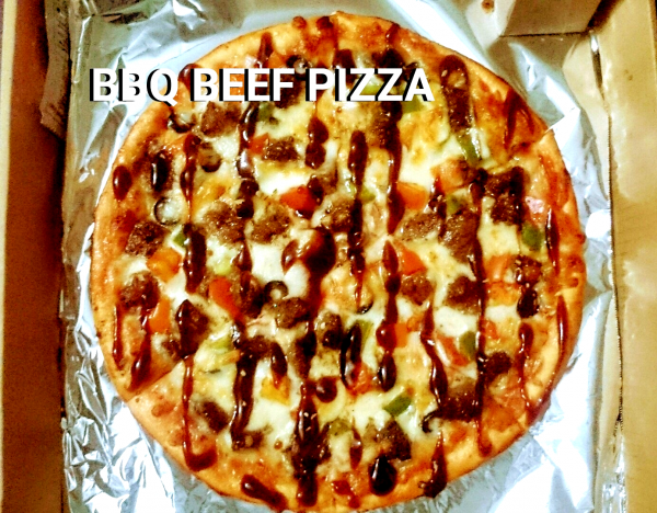 "BBQ Beef Pizza 12"" from Mom's Best Homemade Pizza"