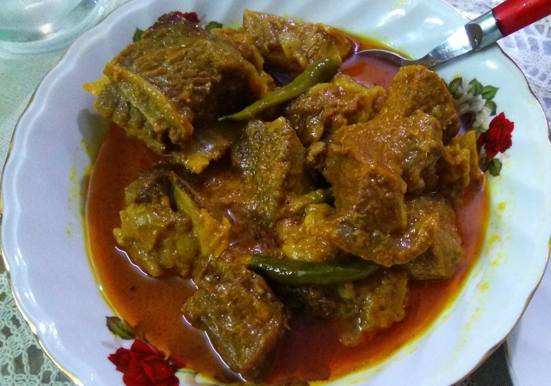 Beef Jhal bhuna from Nuzhat's Dine
