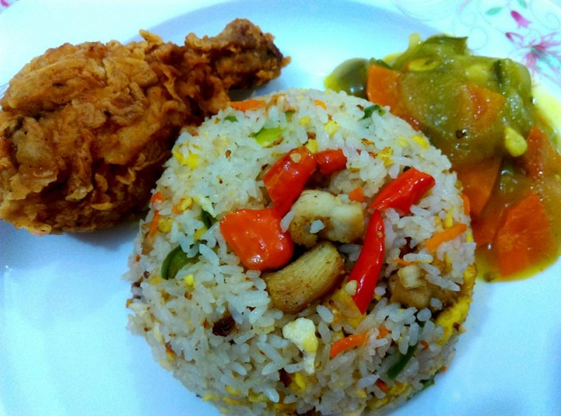 Chicken Egg Fried Rice+fried Chicken+Chineses Vegetable. from Peya Kitchen House