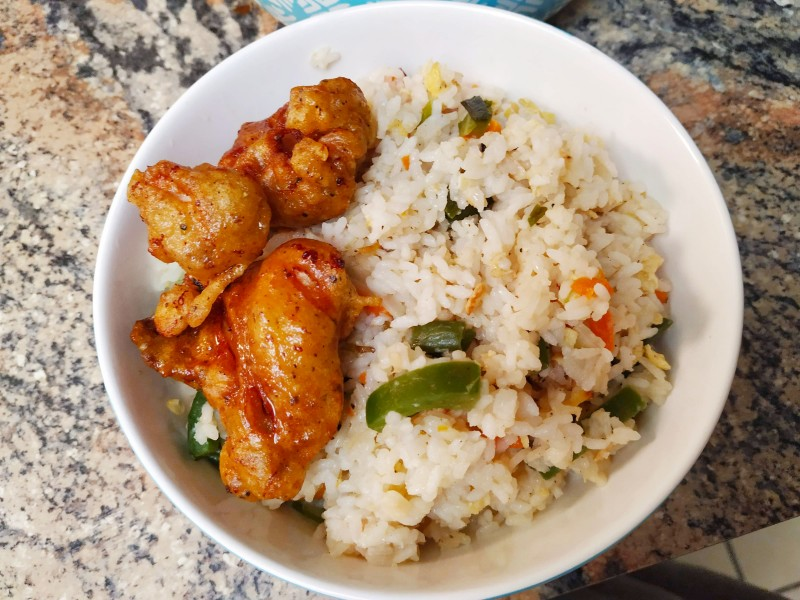Fried rice with chicken curry