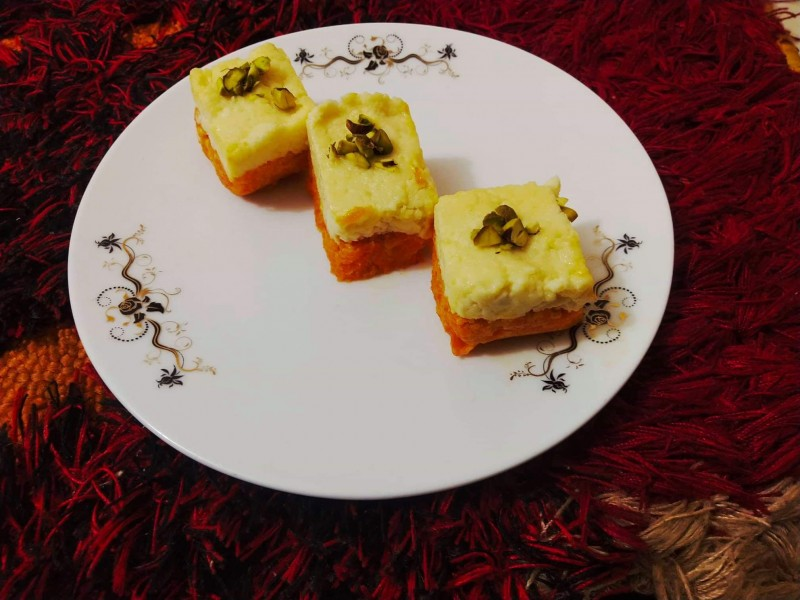 Double Layer Sondesh from Flavorsome's Kitchen