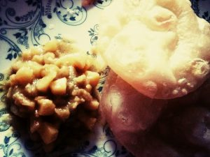 Luchi with Aloor dam from Shelley's Kitchen