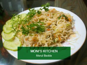 Noodles (chicken+vege) from Moni's Kitchen