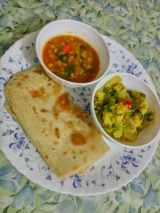 Paratha Dal Shabji from Mom's Dine