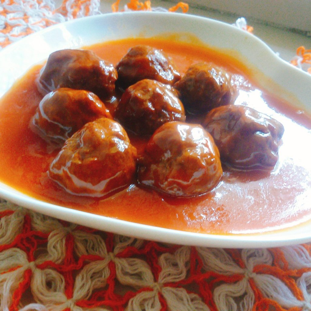 Beef Meatball Gravy from Moni's Kitchen