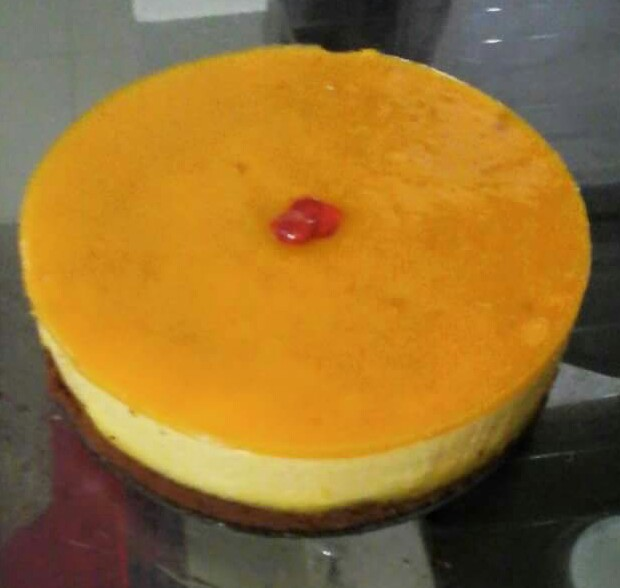 Mango Cheese Cake from Ayesha's Kitchen