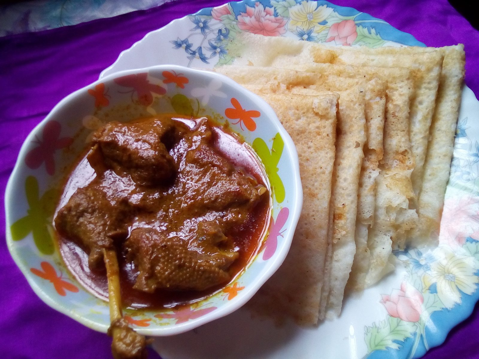 Duck Curry with Chita Ruti from Sompurna Rannaghor