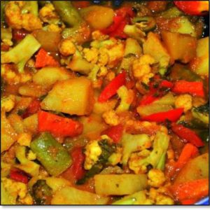 Vegetable Curry (Indian style) from Shelley's Kitchen