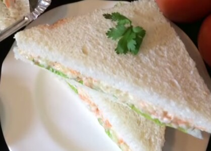 Chicken-Vege Sandwich from Ayesha's Kitchen