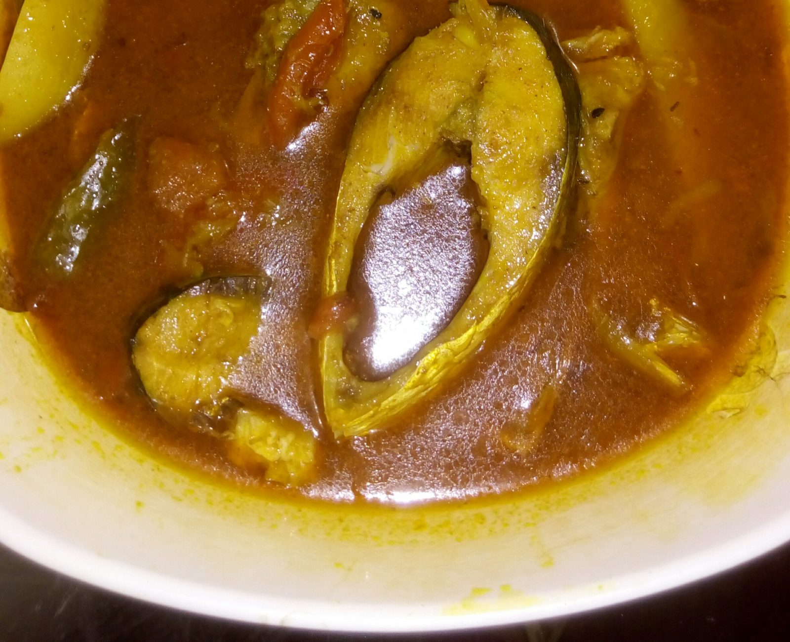Alu Tomato Illish Jhol from Ayesha's Kitchen
