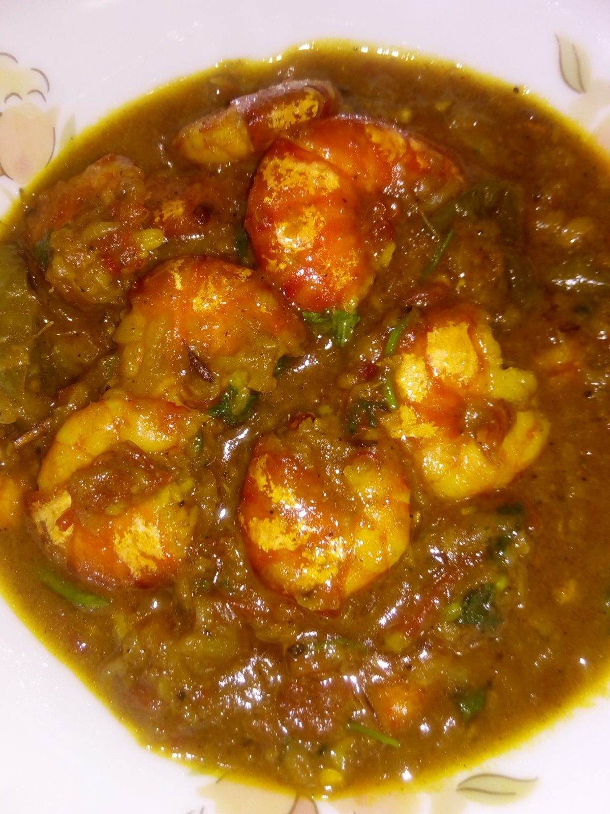 Chingri Mach Vuna from Ayesha's Kitchen