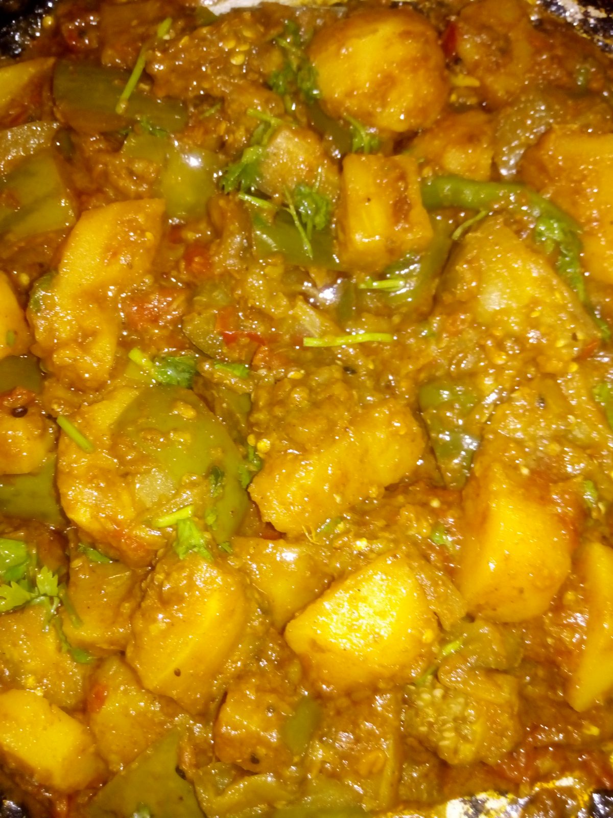Achari Alu Begun from Ayesha's Kitchen
