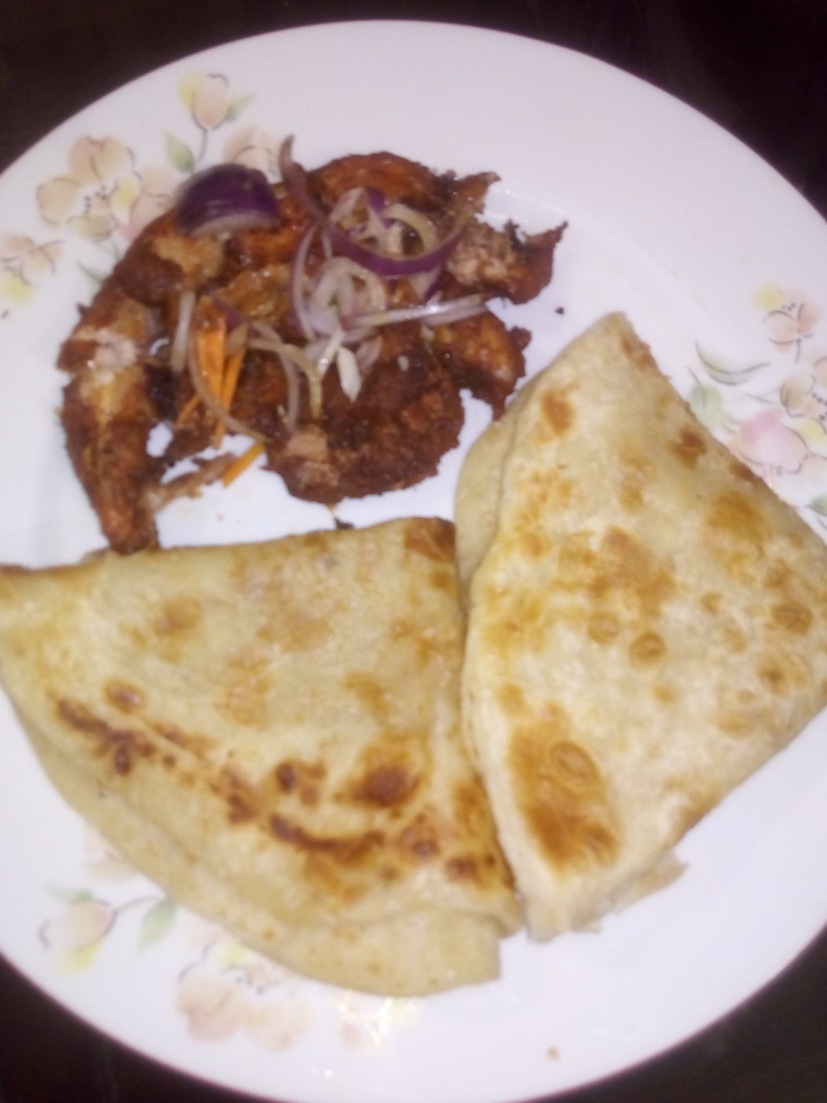 Chicken Chaap with Paratha from Ayesha's Kitchen