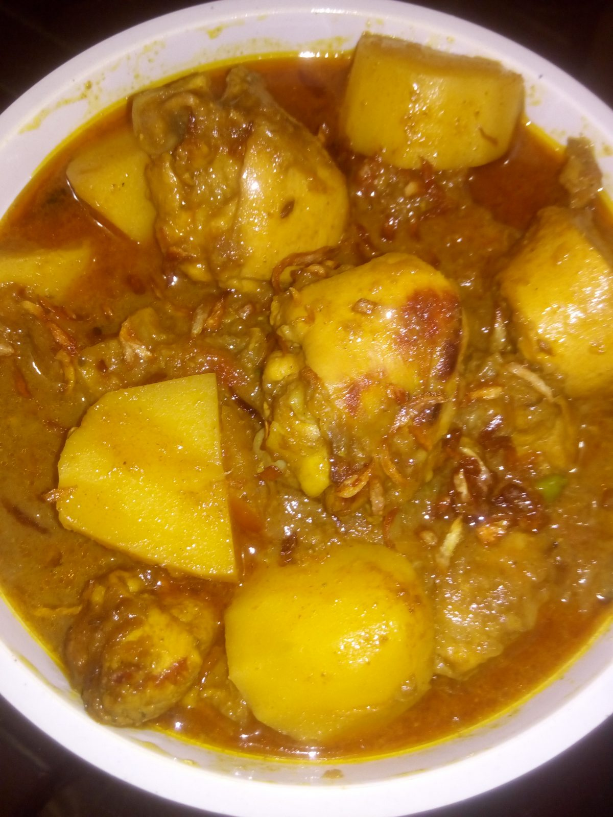 Alu murgir jhol. from Ayesha's Kitchen