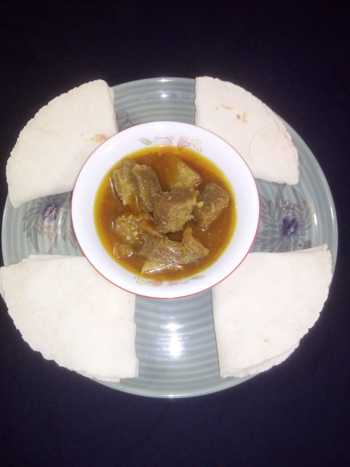 Chaler Attar Ruti + Beef Vuna from Ayesha's Kitchen