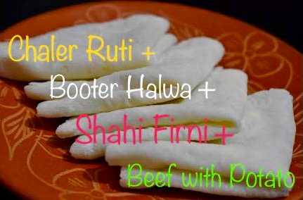Shab-E-Barat Special: Chaler Ruti + Beef + Halwa + Firni from Shelley's Kitchen
