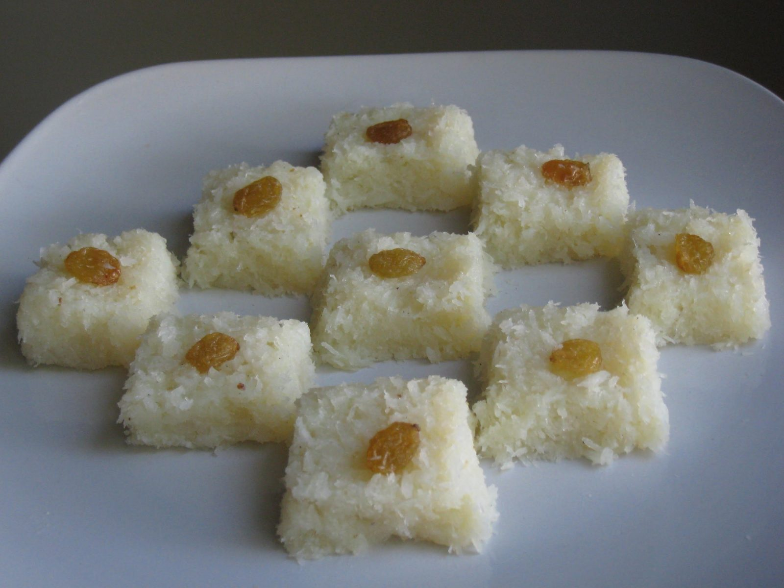 Coconut (Narikel) Barfi from Arisha's Kitchen