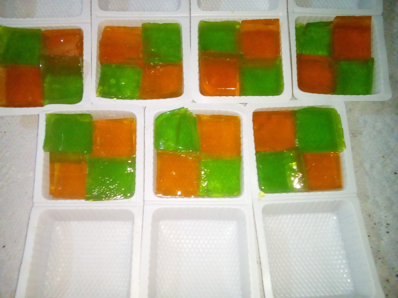 Jello pudding from Sompurna Rannaghor