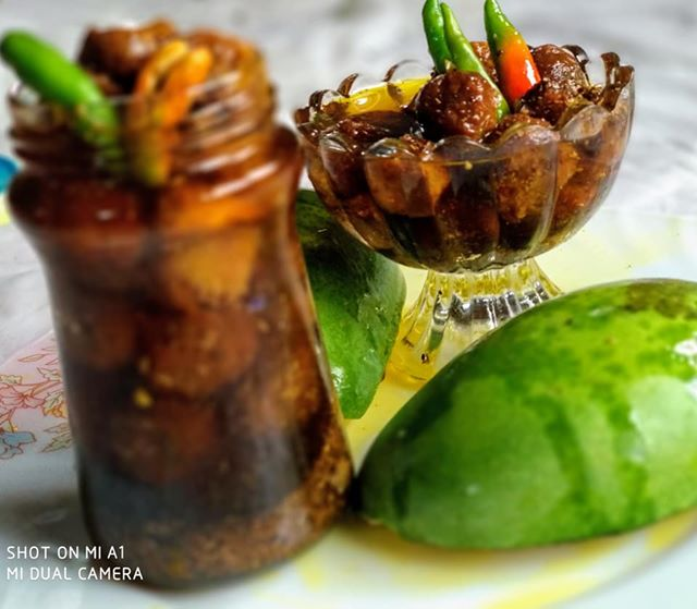 Spicy Sour Mango Pickle from Porin's Kitchen