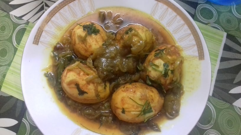 Dim Vuna Jhal from Juthemoni's Kitchen