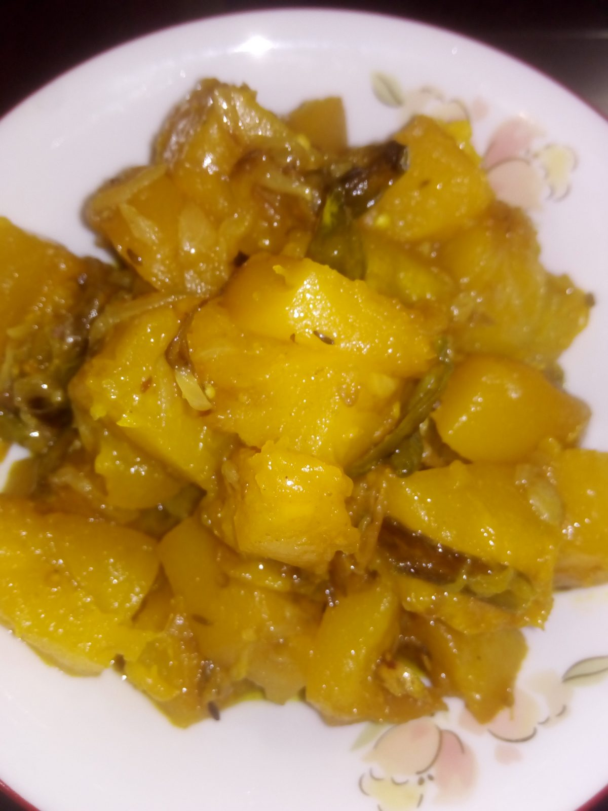 Pumpkin Fry from Ayesha's Kitchen