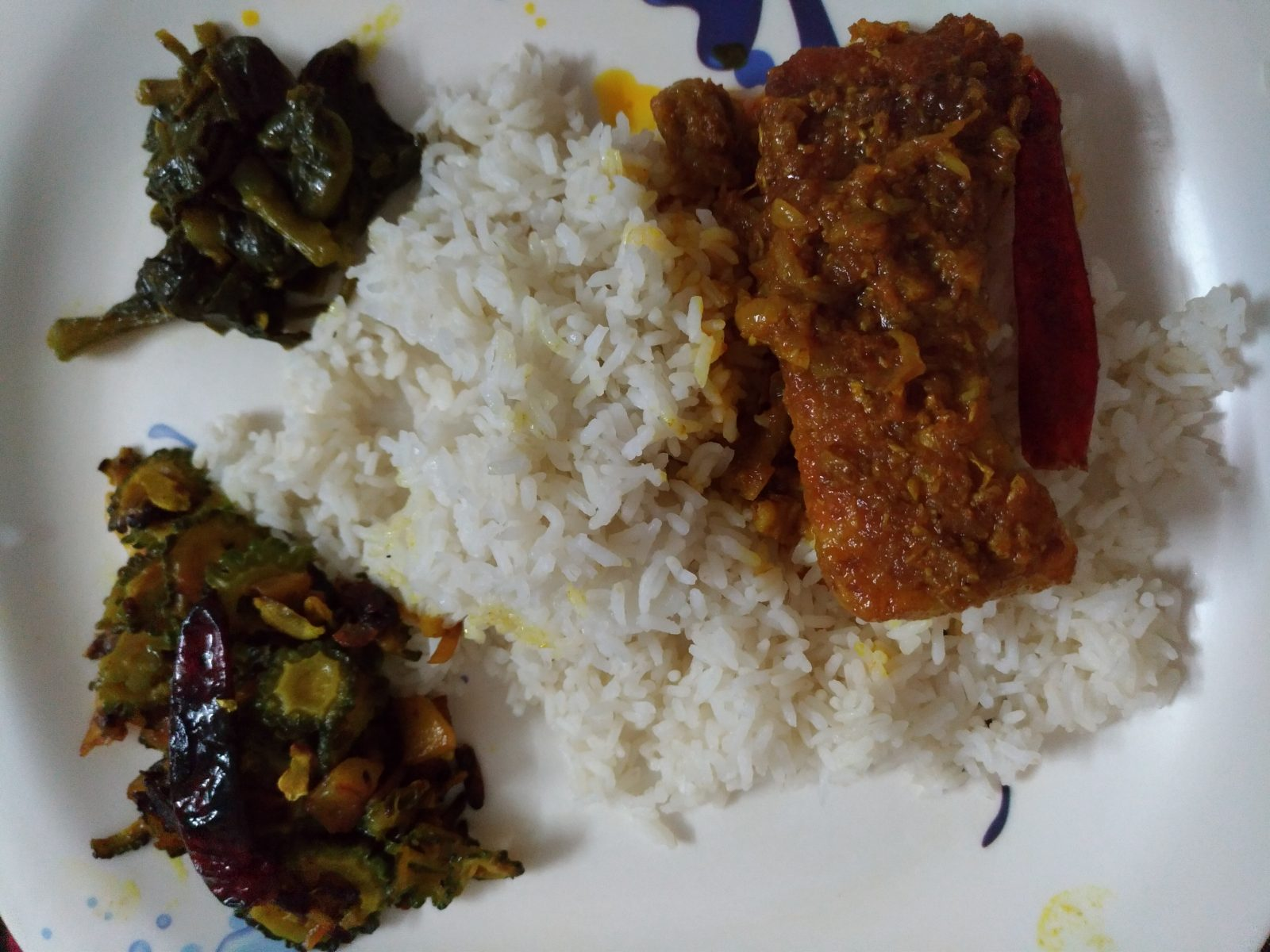 Shada Bhat, Rui Mach Vuna r Bhaji from Mohima's Kitchen