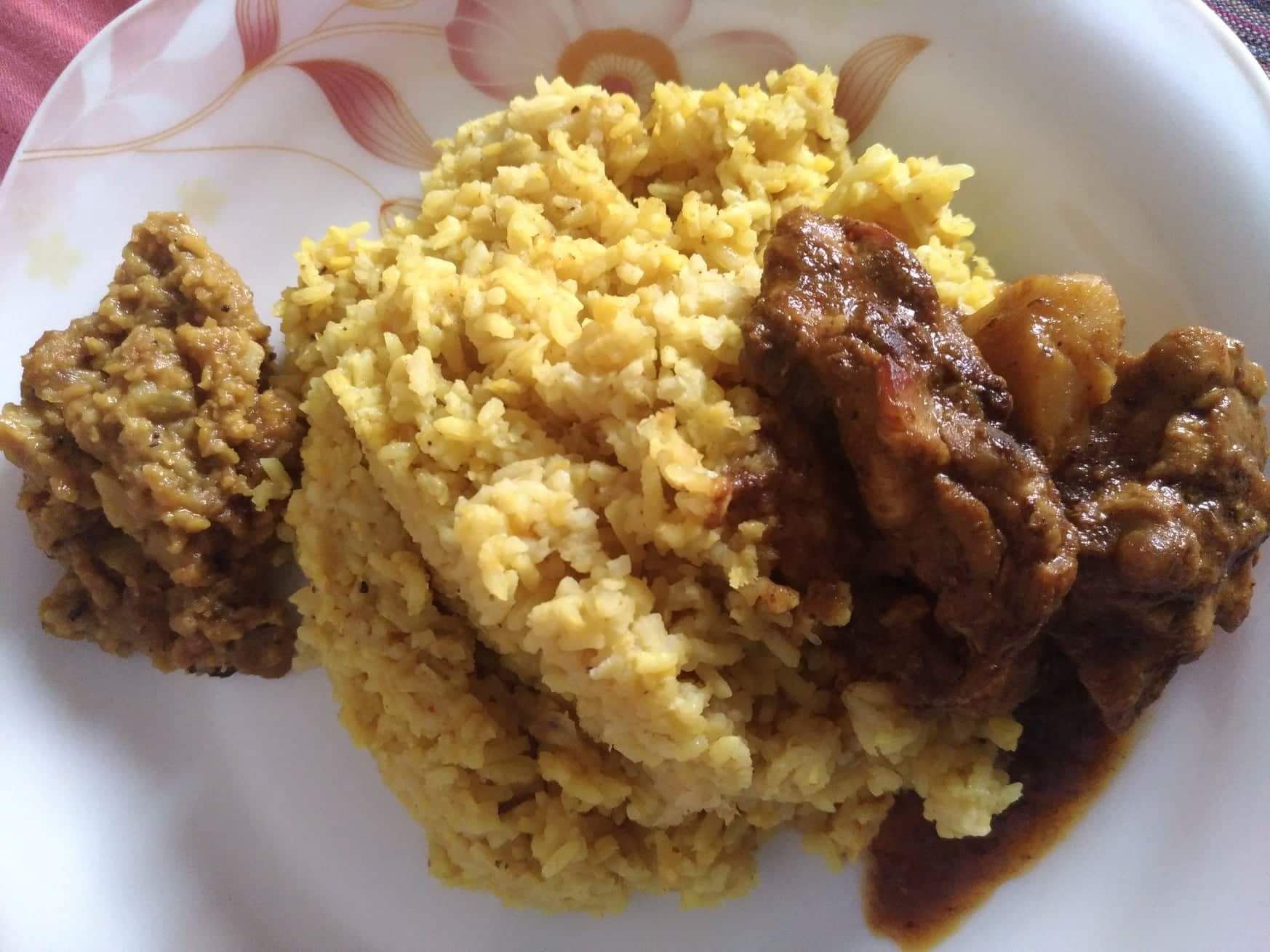 Khichuri, Chicken Jhal Mangsho, Vaji/ Chatni from Mohima's Kitchen