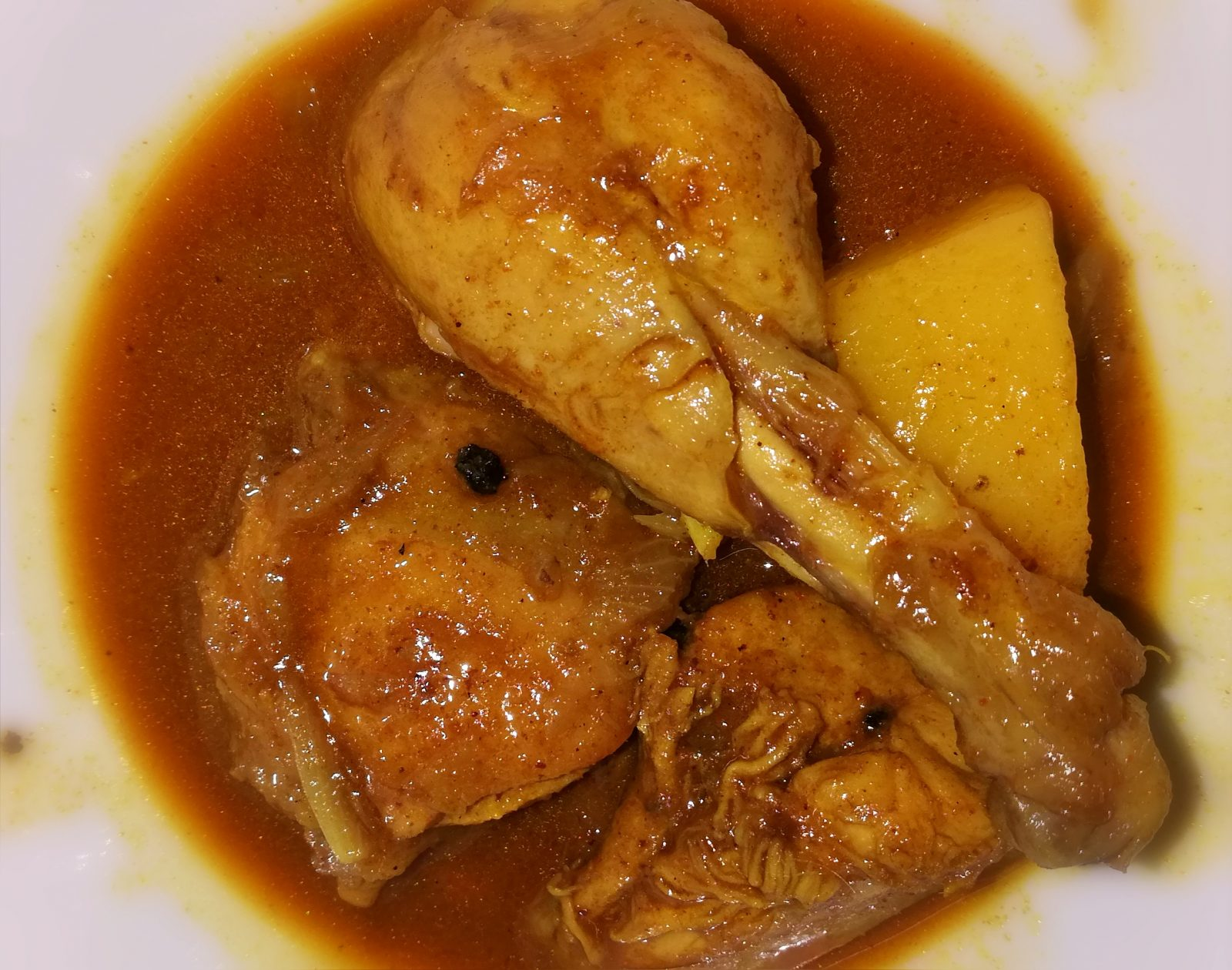 Chicken jhol with potato from Shelley's Kitchen