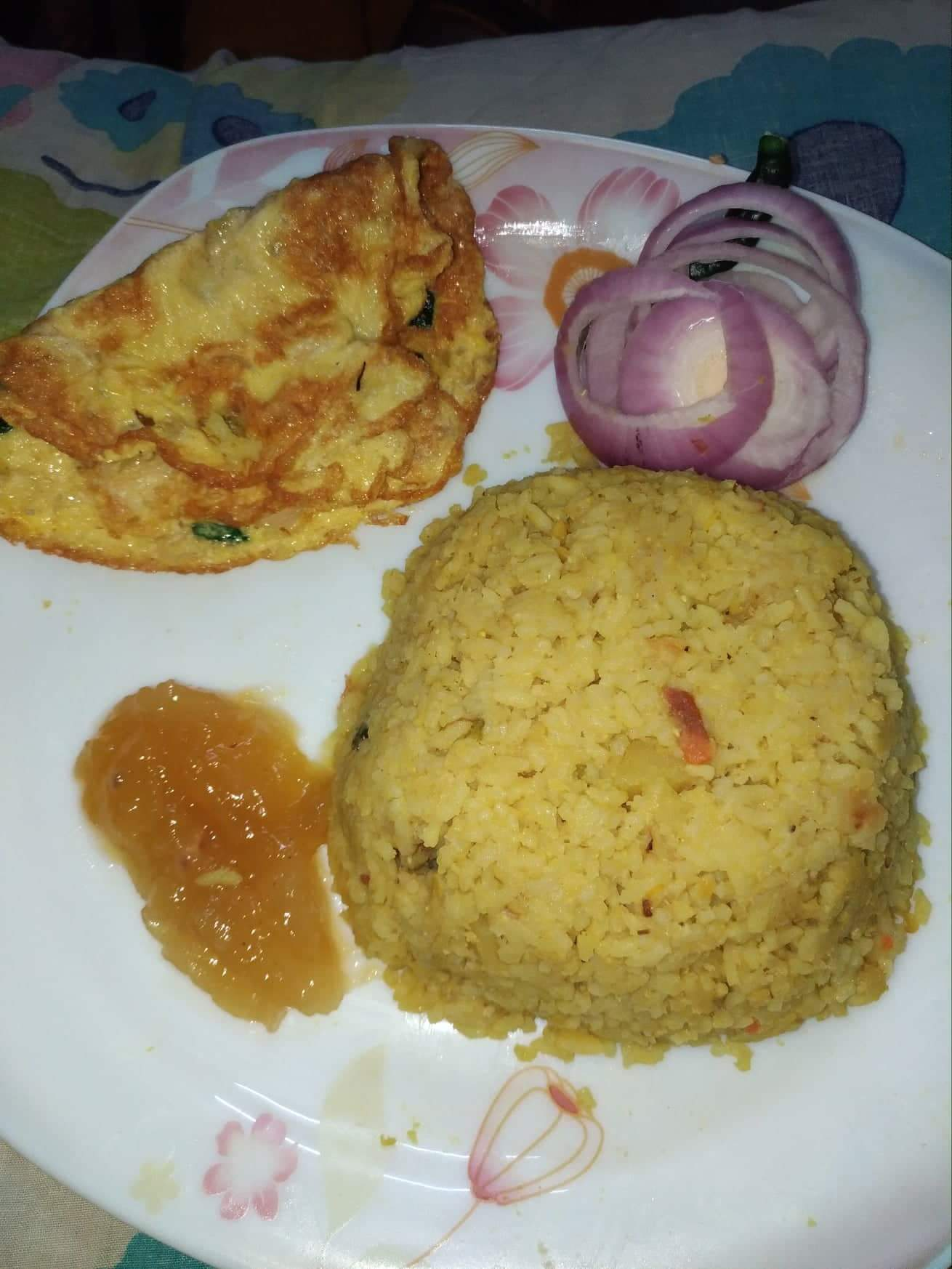 Plain Khichuri Dim Vaji, Chatney from Mohima's Kitchen