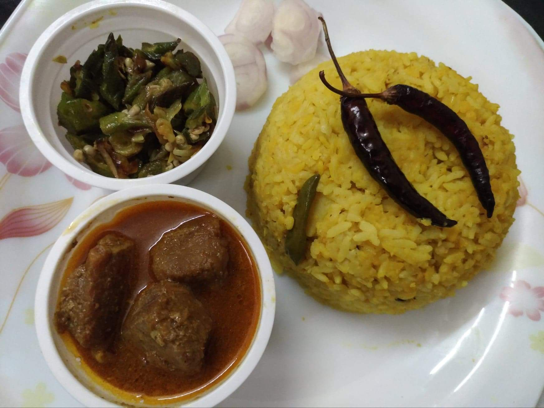 Khichuri with Jhal Beef Curry from Mohima's Kitchen
