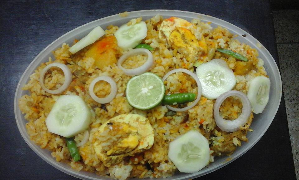 Hyderabadi Chicken Tikka Biriyani from Cookies Monster & Co