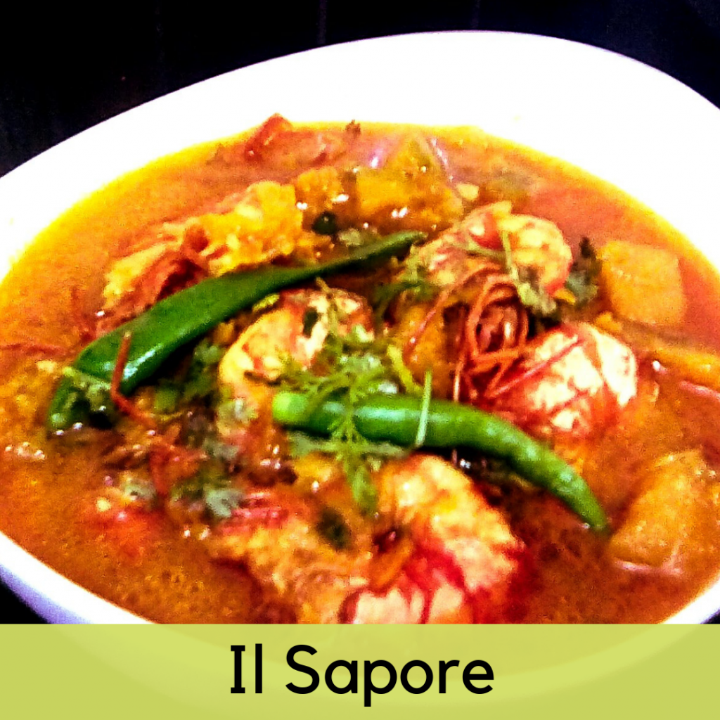 Prawn With Pumpkin Curry ( Chingri Mishti Kumro Curry) from Il Sapore