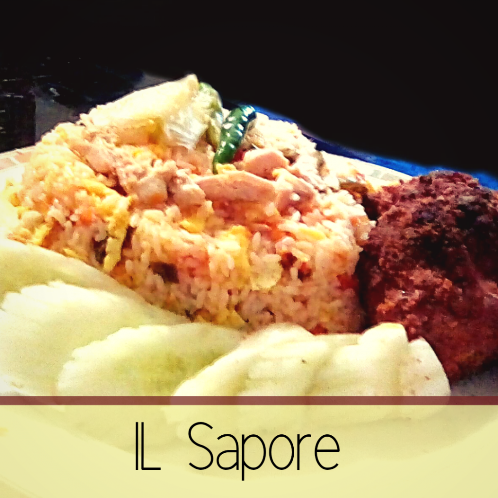 Lunch Set Menu- Chicken Egg Veg Fried Rice with Fried Chicken from Il Sapore