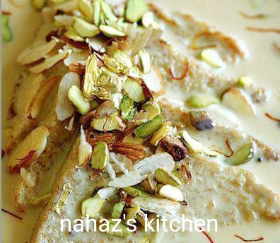 Shahi Tukra from Nahaz's Kitchen