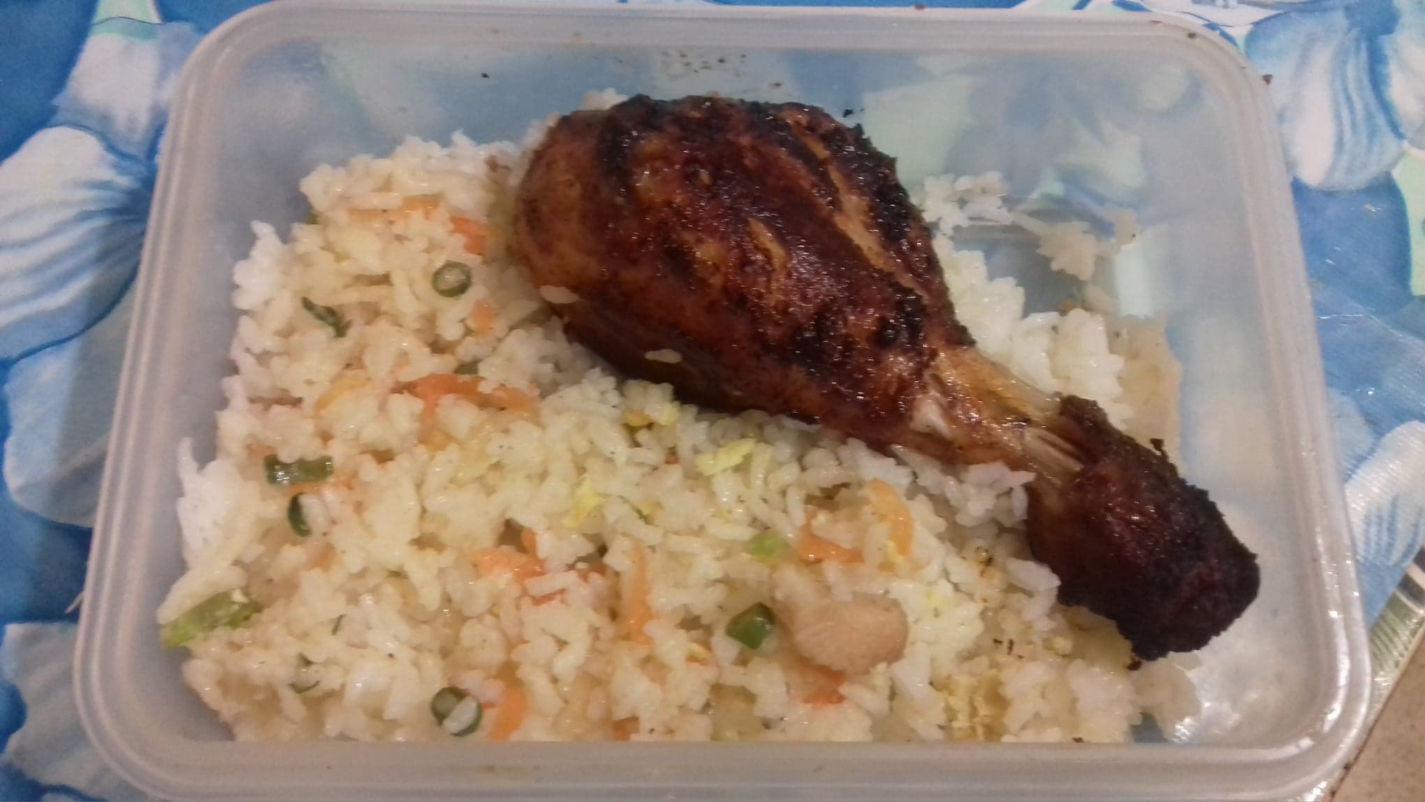 Vegetable Fried Rice with Chicken Fry from Juthemoni's Kitchen