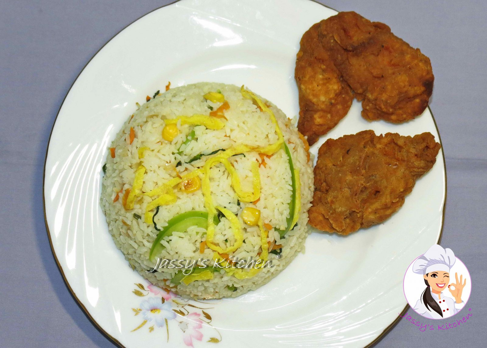Chinese Fried Rice & Fried Chicken Wings from Jassy's Kitchen