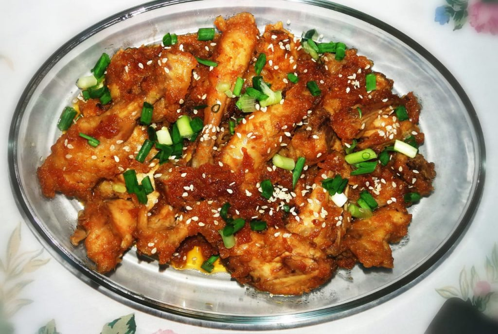 Sweet and Sour Chicken with Shallot and Sesame from Easy Peasy