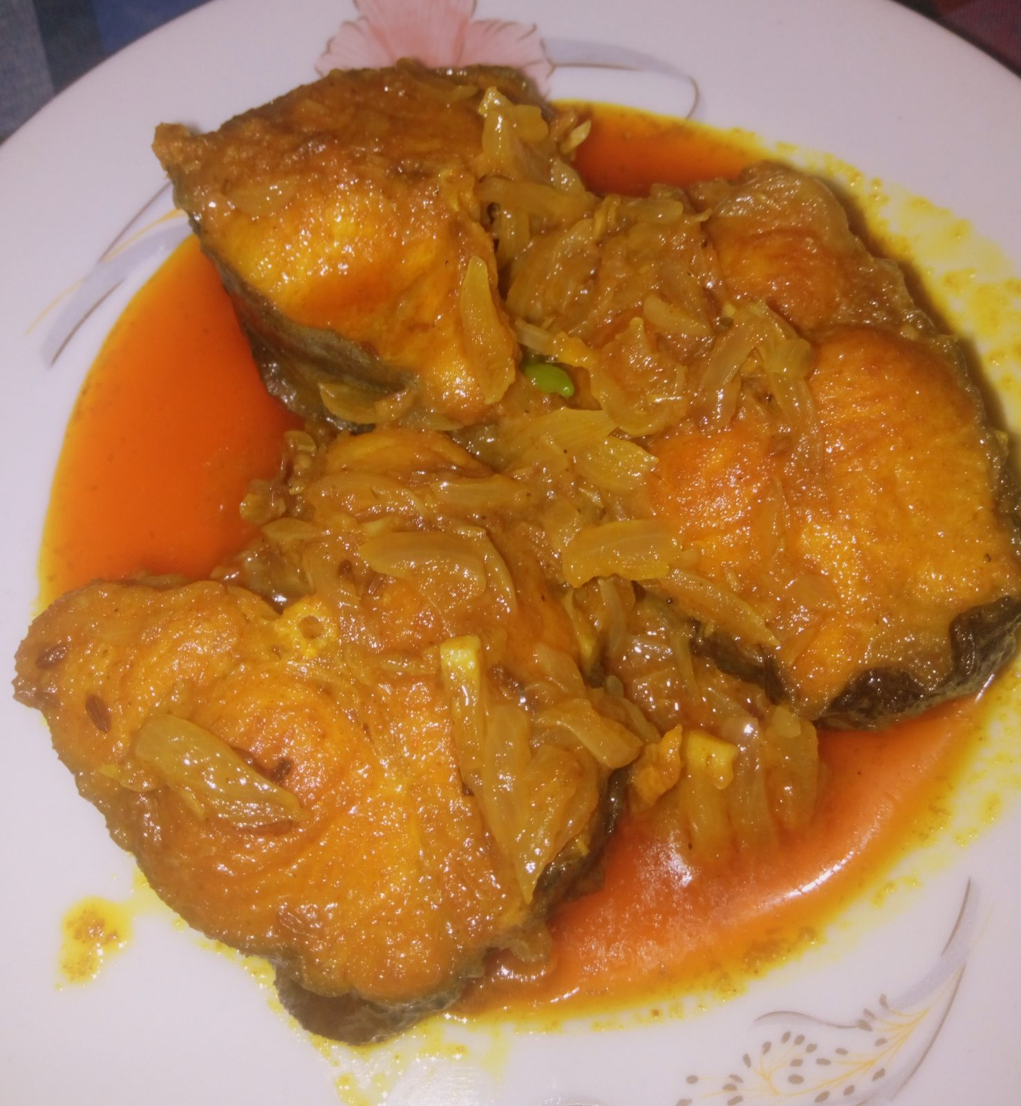 Pangas Fish Jhal Vuna from Naher Kitchen