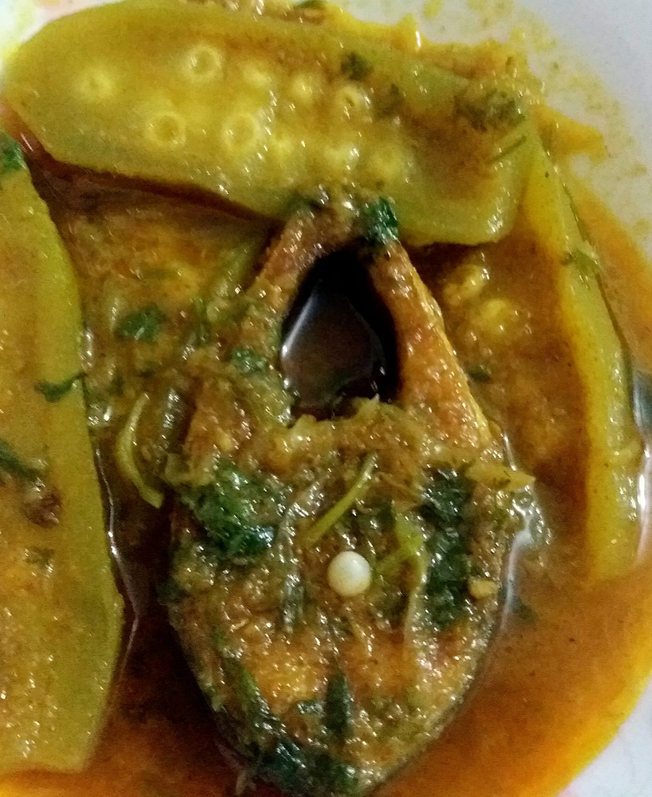Ilish with Potol