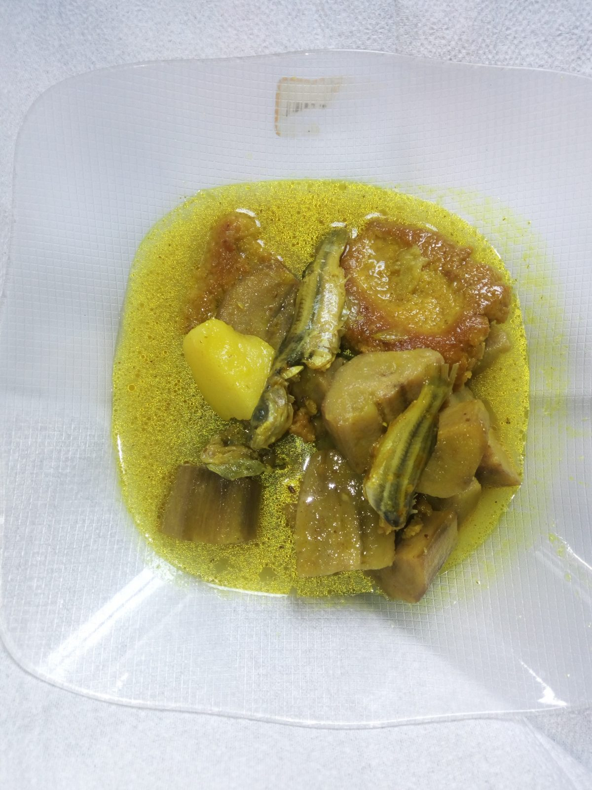 Kach Kola, Tengra Fish with Dal Bora from Naher Kitchen