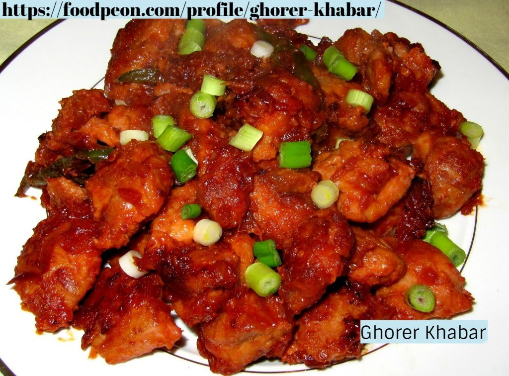 Chicken Manchurian from Ghorer Khabar