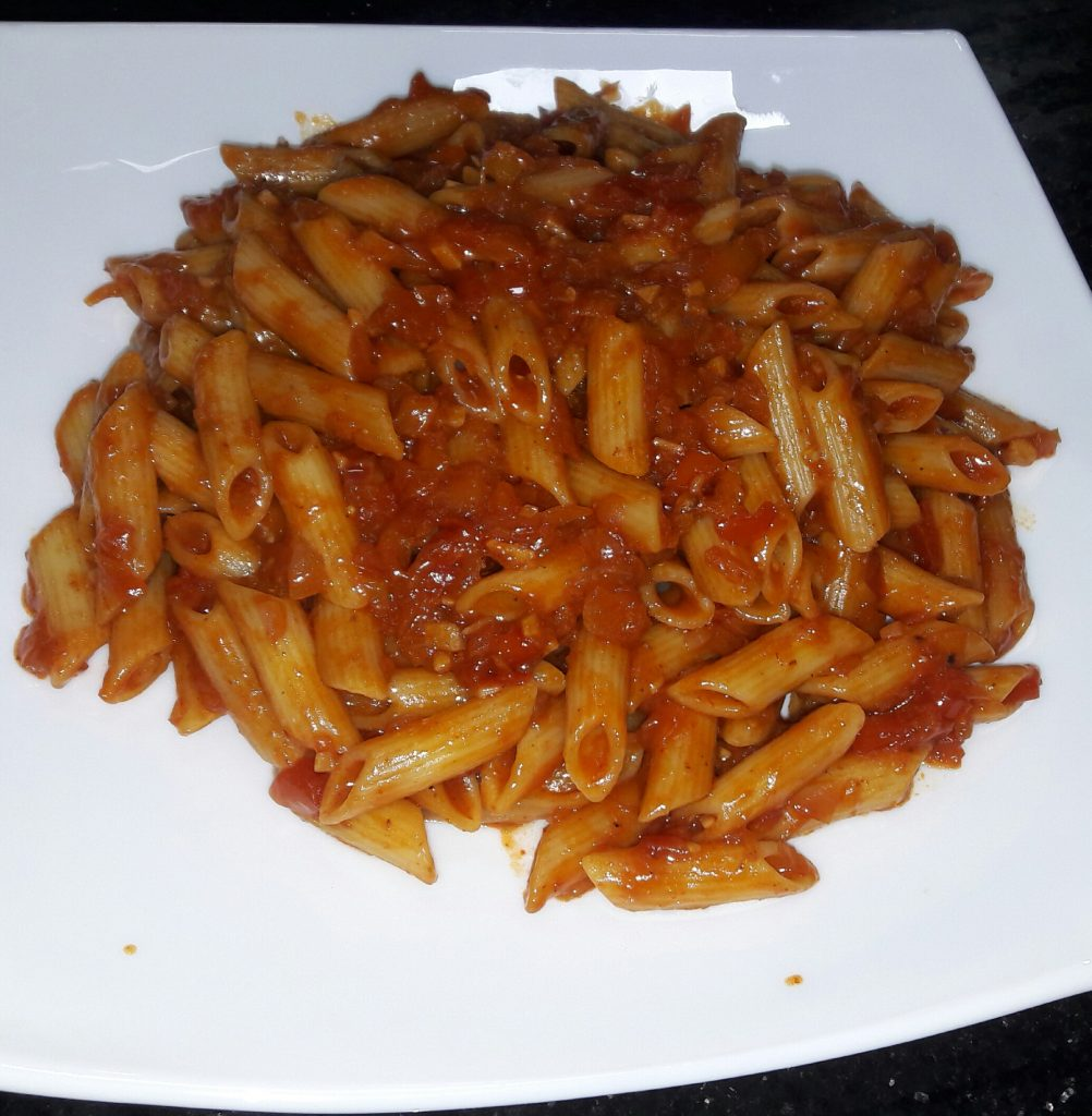 Red Sauce Pasta from Tani's Caboose