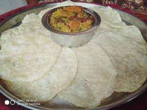 Luchi and Vegetables from Porin's Kitchen