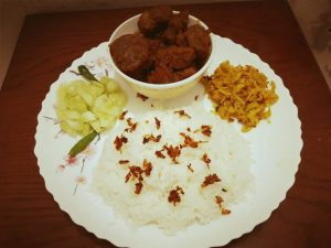 Polau with Beef Kosha and Potato Vaji from Sheema's Kitchen