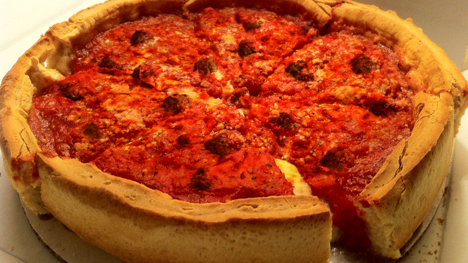 "Chicago Deep Dish Pizza 10"" from Mom's Best Homemade Pizza"