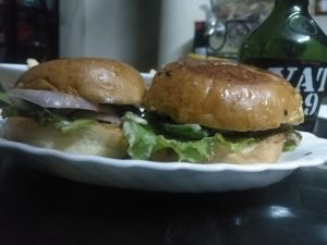 Chicken Burger from Anika's Kitchen