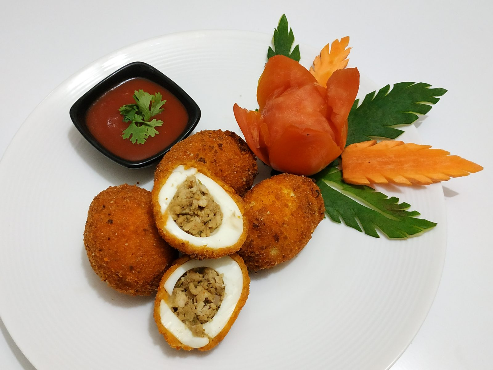 Chicken Kima Egg Ball from Afroza's Kitchen