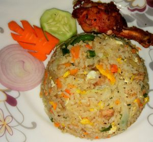 Fried Rice with Chicken Fry