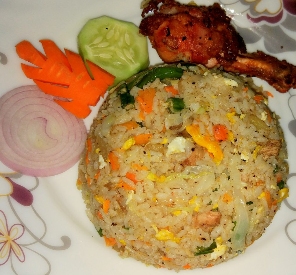 Fried Rice with Chicken Fry from Tahira's Cookhouse